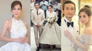 5 ชุดแต่งงาน ก้อย รัชวิน โดยดีไซเนอร์ไทย ชั้นแนวหน้าของเมืองไทย สมศักดิ์ศรีสาวสายแฟ!