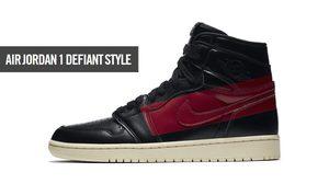 Air Jordan 1 Defiant Style มาพร้อมสีแดง-ดำ ในดีไซน์เจ็บจี๊ด