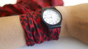 DIY นาฬิกา ด้วย ผ้าพันคอเก๋ๆ ได้นาฬิกาใหม่ ไม่รู้ตัว