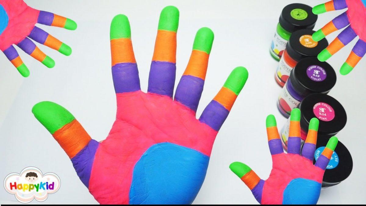 เพลงนิ้วโป้งอยู่ไหน | เพ้นท์สี | ระบายสีมือ | เรียนรู้สี | Learn Color In Thai With Hand Painting