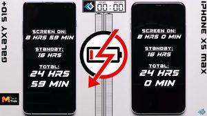 เทียบความอึด แบตเตอรี่ ระหว่าง iPhone XS Max และ Samsung Galaxy S10+