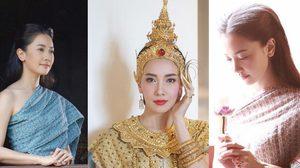 นุ่น วรนุช กับ 10 ภาพชุดไทยสุดเลอค่า! สวยงามเหมือนนางในวรรณคดีไทย