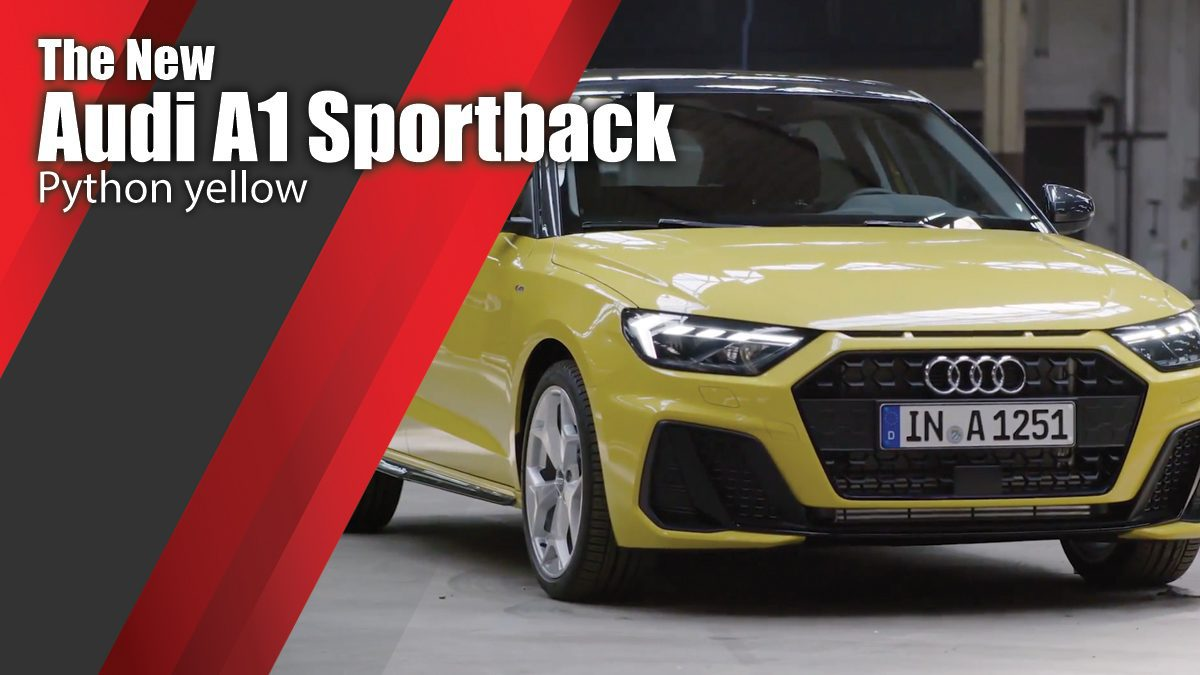 The new Audi A1 Sportback - Python yellow