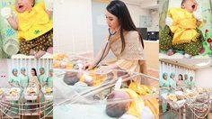 ทารกแรกเกิดใส่ชุดไทย