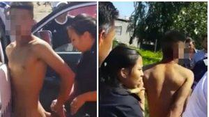 รุมสาปแช่ง ชายชั่วจ่อข่มขืนเด็ก8ขวบ ถูกจับขณะแก้ผ้า ประจานกลางฝูงชาวบ้าน (คลิป)