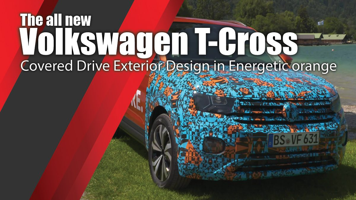 The all new Volkswagen T-Cross - Covered Drive Exterior Design in Energetic orange