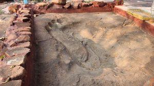 พบรอยเท้าขนาดใหญ่ที่ สถานปฏิบัติธรรมสงฆ์เขาถ้ำเต่า เชื่อเป็นรอยพระพุทธบาท