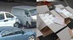 มาให้จับเองนะ รถขนยาพุ่งเข้าชนรถตำรวจ ยาไอซ์เต็มคันกว่า 273 กิโล
