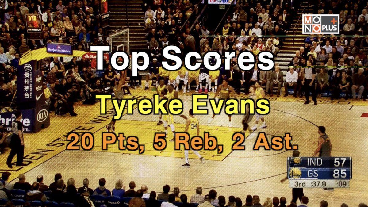 Top  SCORE  Tyreke Evans  20  PTS  5  REB 2  AST