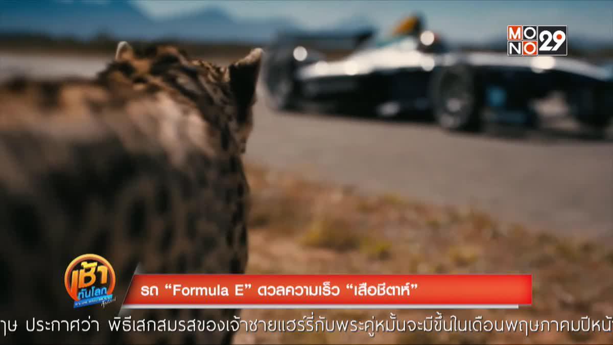"""รถ """"Formula"""" E ดวลความเร็ว """"เสือชีตาห์"""""""