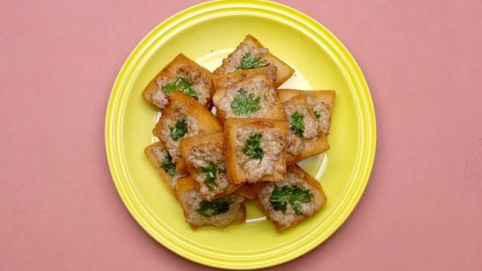 วิธีทำ ขนมปังหน้าหมู เมนูของว่าง ทำง่ายอร่อยด้วย