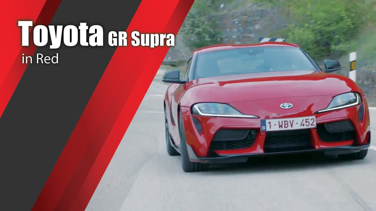 Toyota GR Supra in Red Driving & Design Video
