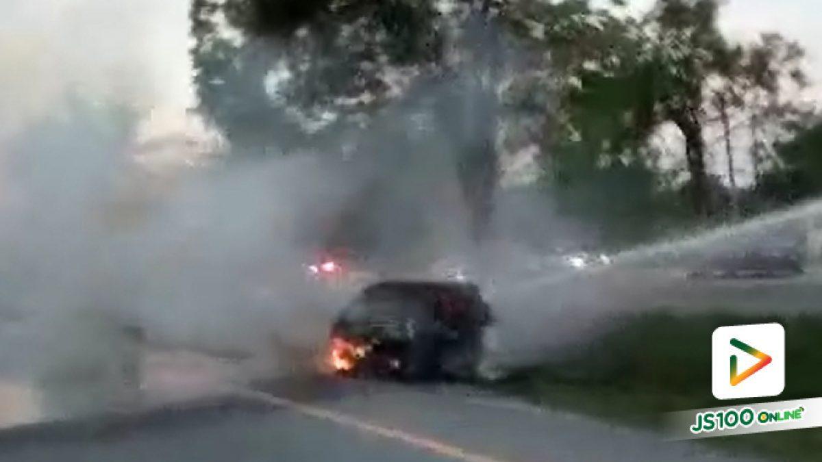 ไฟไหม้รถตู้โดยสารบรรทุกแรงงานต่างด้าว (9-4-61)