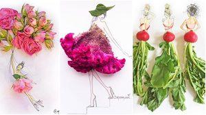 20 ภาพศิลปะสวยๆ จาก 'กลีบดอกไม้' ออกแบบชุดแฟชั่นได้ น่ารักเกิ๊น!!