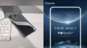 ตัวอย่างโปสเตอร์ใหม่ Honor Note 10 สมาร์ทโฟนเรือธงแบตสุดอีด 6,000 mAh