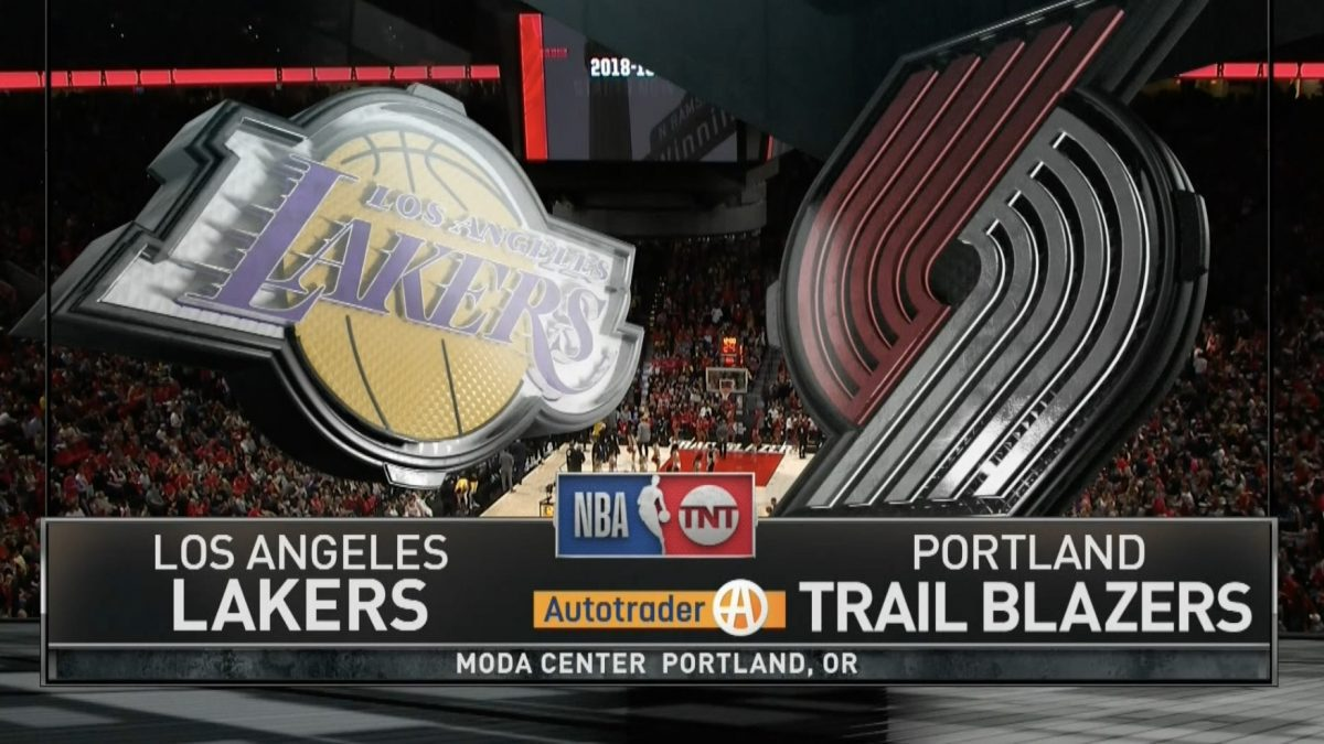 Los Angeles Lakers VS Portland Trail Blazers 19-10-61