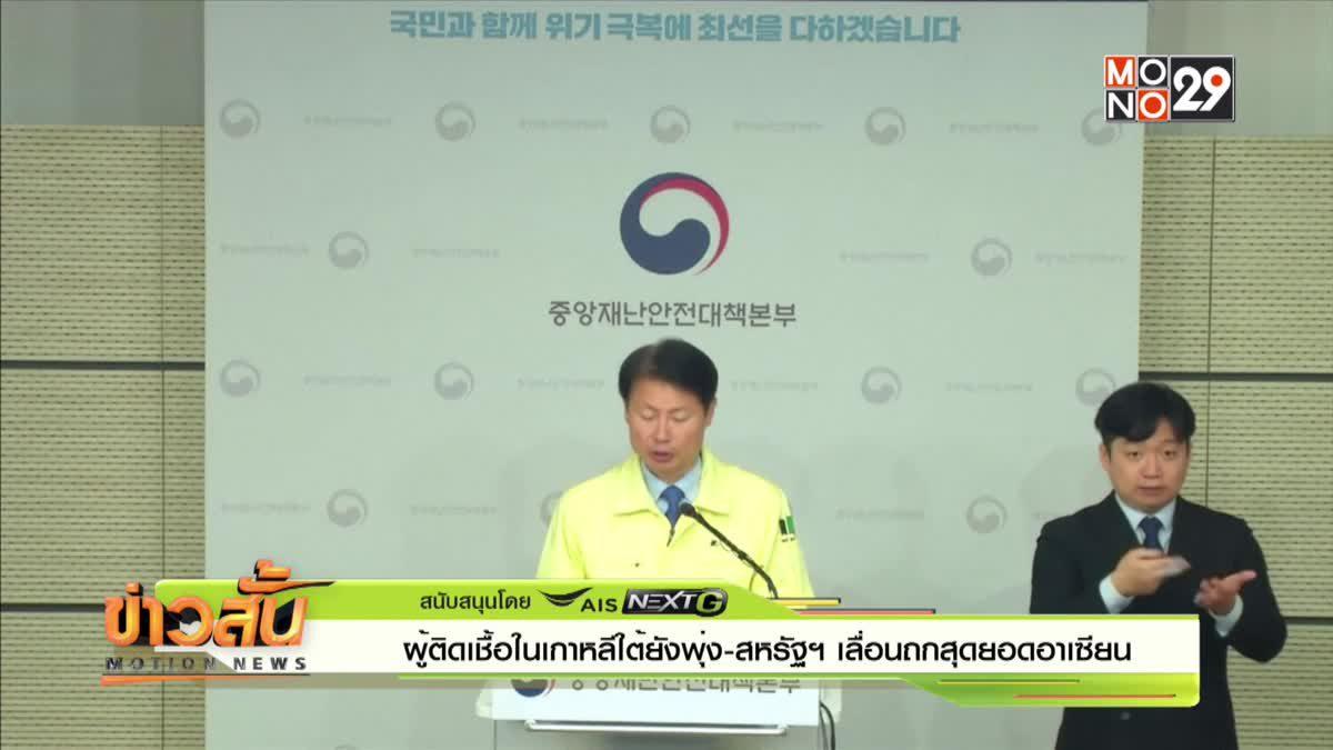 ผู้ติดเชื้อในเกาหลีใต้ยังพุ่ง -สหรัฐฯเลื่อนถกสุดยอดอาเซียน