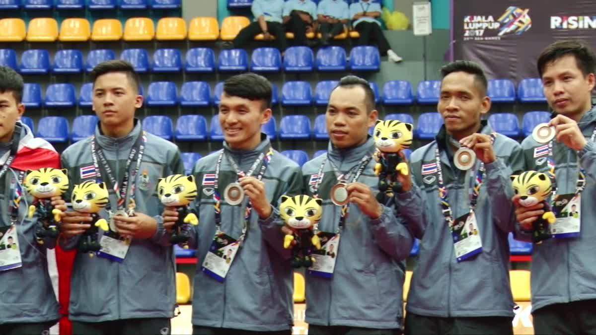ตะกร้อ ชินลง ทีมชาติไทย ได้เหรียญเงิน