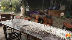 พายุลูกเห็บตกหนักบนดอยอินทนนท์-ดอยเต่า ใหญ่เท่าเหรียญห้า