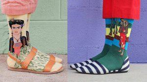 ใครว่า ถุงเท้า จะใส่กับรองเท้าผ้าใบได้อย่างเดียว มาดู ถุงเท้าลายศิลปะก้องโลก กับแฟชั่นสุดเก๋