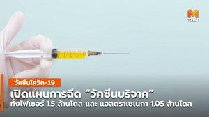 เปิดแผนฉีดวัคซีนบริจาค ไฟเซอร์-แอสตราเซเนกา 2.55 ล้านโดส