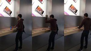 ฉุนแรง ลูกค้าชาวฝรั่งเศสบุกร้าน Apple Store พังมือถือมูลค่าหลาย 1,000 ยูโร