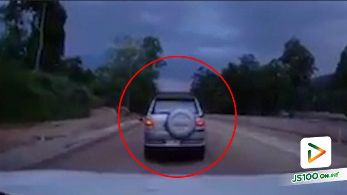 คลิปรถ SUV ชนกันหมุนติ้ว (18-06-62)