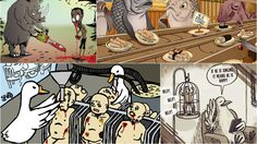 22 ภาพเสียดสี เมื่อเหล่าสัตว์ทั้งหลาย ต่างมาเอาคืนมนุษย์