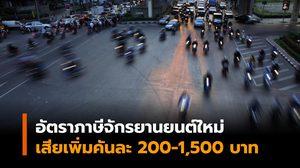 อัตราภาษีจักรยานยนต์ใหม่ เก็บตามปริมาณการปล่อยคาร์บอนฯ เสียเพิ่มคันละ 200-1,500 บาท ดีเดย์ 1 ม.ค. 63