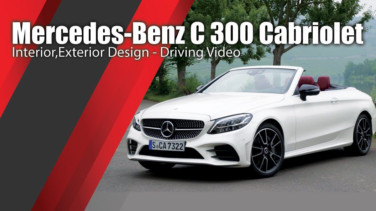 Mercedes-Benz C 300 Cabriolet in Diamond white - Interior,Exterior Design - Driving Video