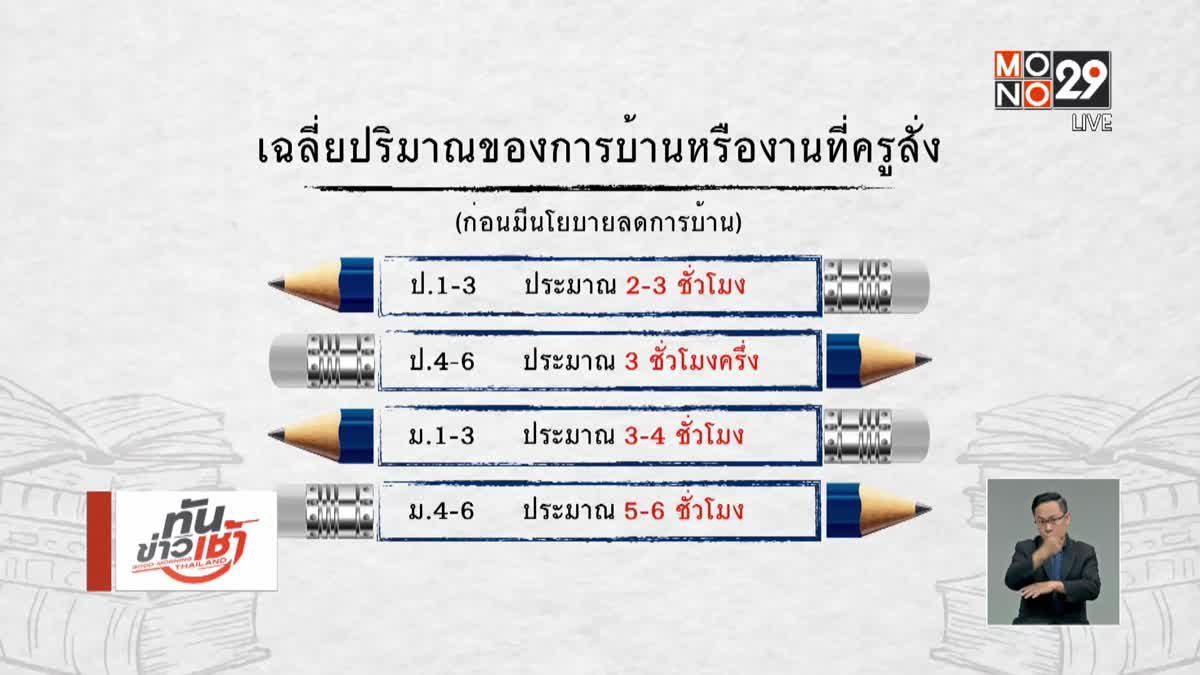 คุยครบกับพบเอก :  นโยบายลดการบ้าน ทางออกการศึกษาไทย?