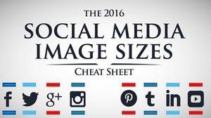 รวมขนาดรูปภาพทุกตำแหน่ง ของโซเชียลทุกตัว ประจำปี 2016