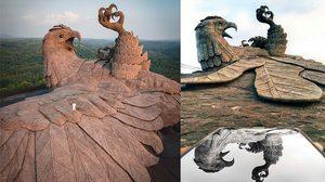 Jadayupara รูปปั้นนกใหญ่ที่สุดในโลก ผลงานชิ้นโบแดงใช้เวลาสร้างนับทศวรรษ