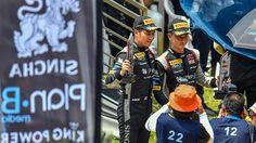 """ภูริต-กันตศักดิ์ สองนักขับชาวไทย 'สิงห์ แพลน-บี' ขึ้นโพเดียม """"บลองค์แปง จีที เวิลด์ ชาลเลนจ์ เอเชีย 2019"""" เรซ 4"""