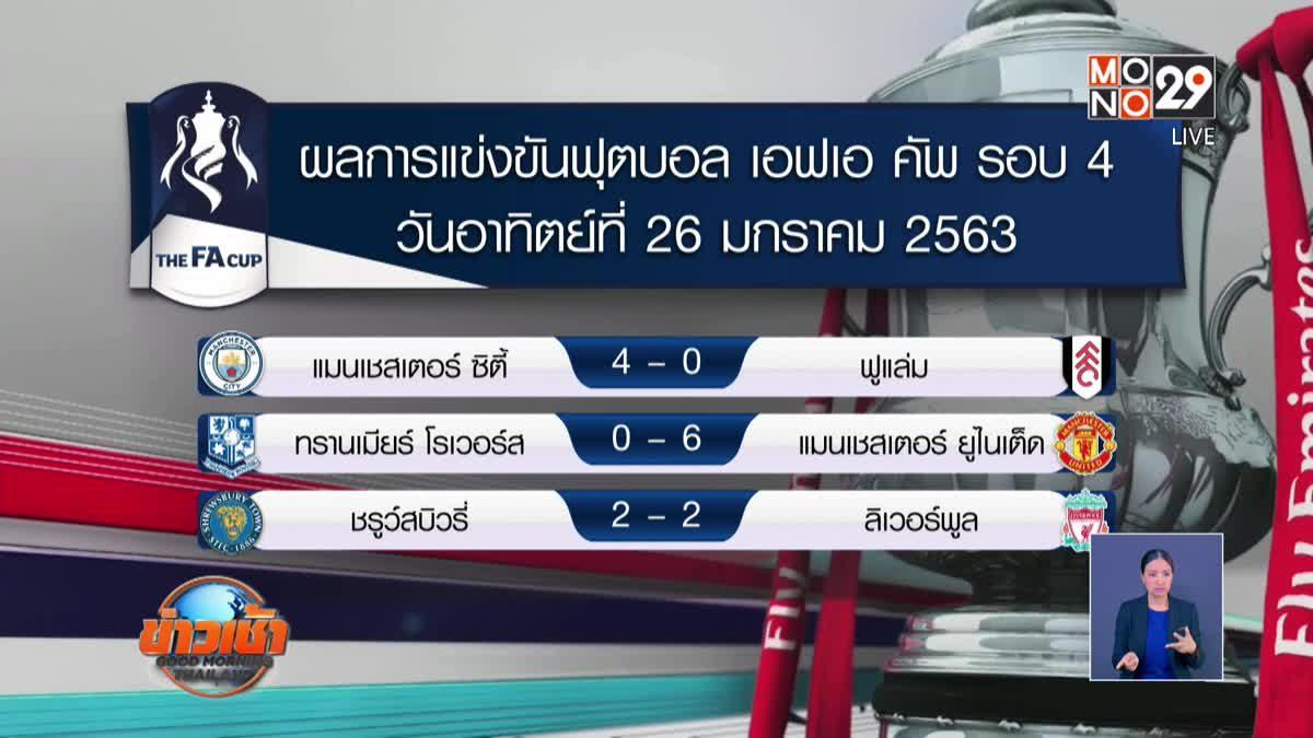 ผลฟุตบอลรอบโลก 27-01-63