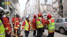 ระทึก ตึกถล่มเมืองมาร์แซย ฝรั่งเศส จนท.เร่งช่วยผู้ประสบภัย