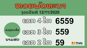 หวยลาว งวดวันที่ 12 พฤศจิกายน 2563