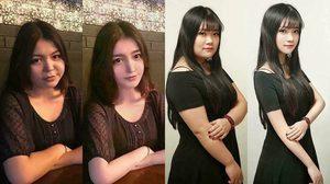 รูปเปรียบเทียบ ก่อนหลังแต่งภาพ ของสาว ๆ สุดสะพรึงเปลี่ยนผีเป็นคน
