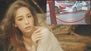 CCTV เผยนาทีที่รถยนต์ของ แทยอน Girls' Generation พุ่งชนรถแท็กซี่อย่างแรง