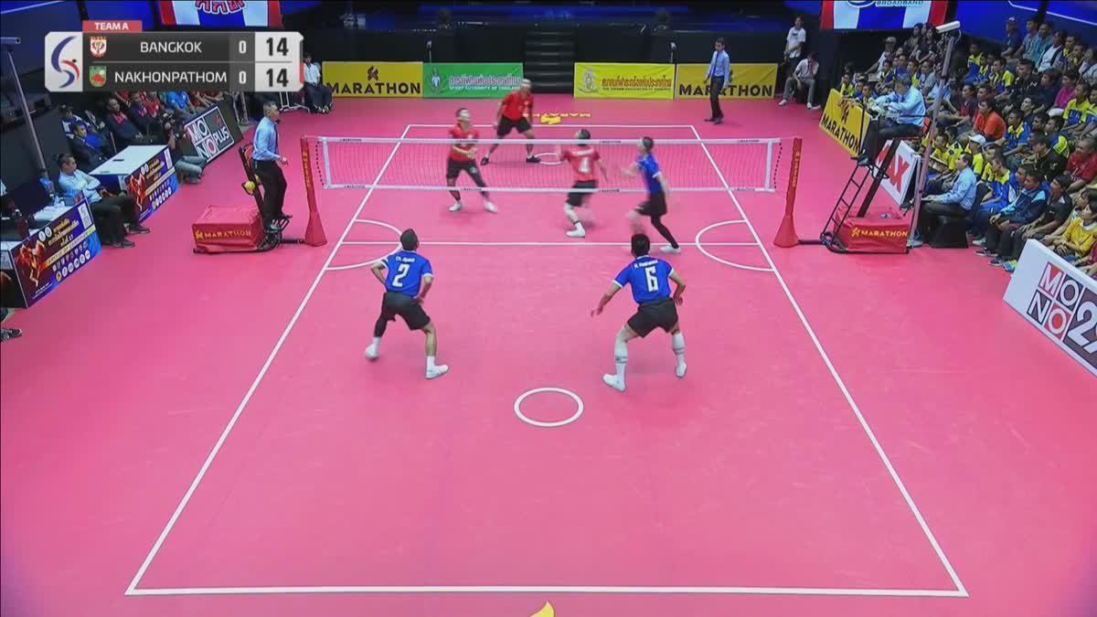 คู่ที่ 2 ทีม A : สโมสรตะกร้ออาชีพ ม.กรุงเทพธนบุรี VS สโมสรตะกร้อ จ.นครปฐม (16-09-2018)