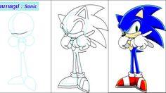 สอนวาดรูป : โซนิค เม่นตัวสีน้ำเงิน ที่วิ่งได้ด้วยความเร็วสูง