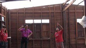 พายุฤดูร้อน ถล่ม อ.บ้านฝางเสียหายกว่า 40 หลังคา