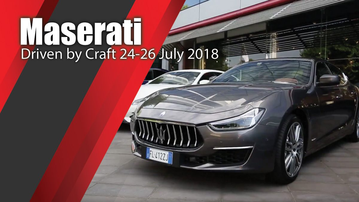 Maserati Driven by Craft 24-26 July 2018
