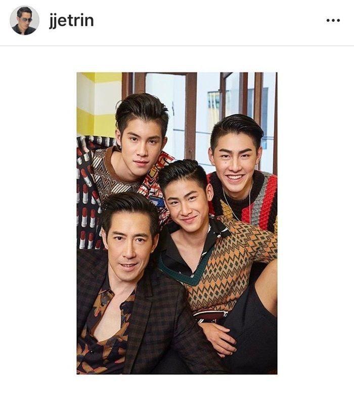 เจ เจตริน และลูกชาย 3 คน