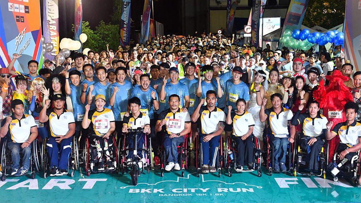 """'สิงห์ ซีรี่ส์ รัน 2019' คึกคัก! เหล่านักวิ่งรวมแรงใจหนุน """"พาราไทย"""" สู้ศึกที่โตเกียว"""