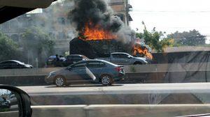 ไฟไหม้รถบรรทุก 10 ล้อ บน ถ.กาญจนาภิเษก วอดทั้งคัน!