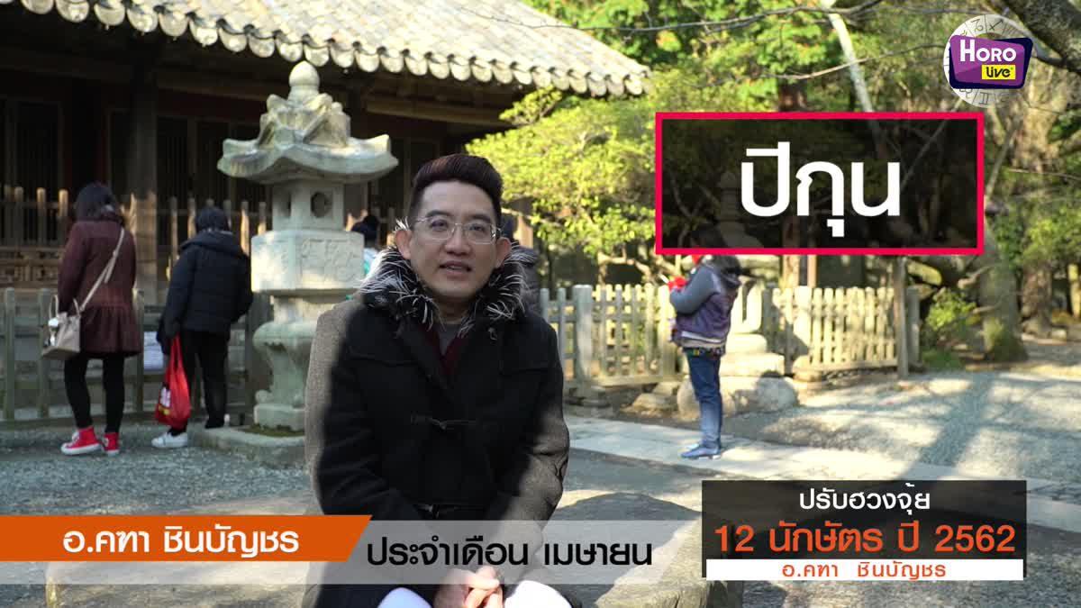ฮวงจุ้ย คนเกิดนักษัตร กุน เดือนเมษายน 2562