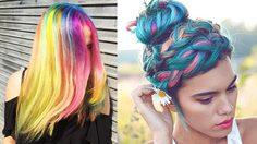 สีผมฟรุ้งฟริ้งแบบยูนิคอร์น (Unicorn)