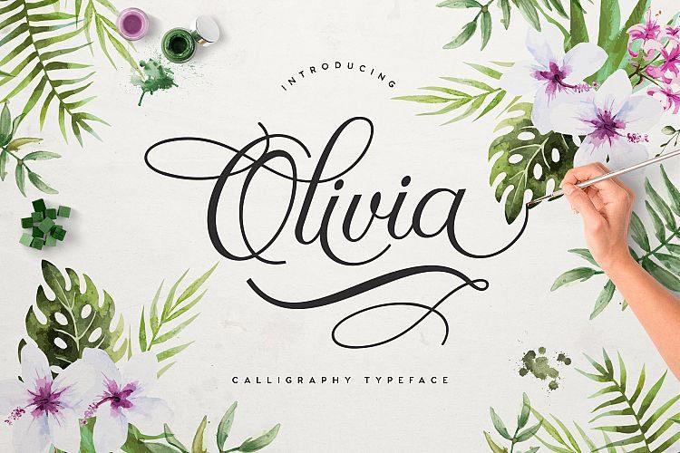 ฟอนต์ Olivia