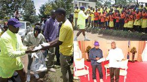 คนมันรวย!! Kanye West โชว์ป๋าแจกรองเท้า Yeezy Boost ให้เด็กกำพร้าในประเทศยูกันดา